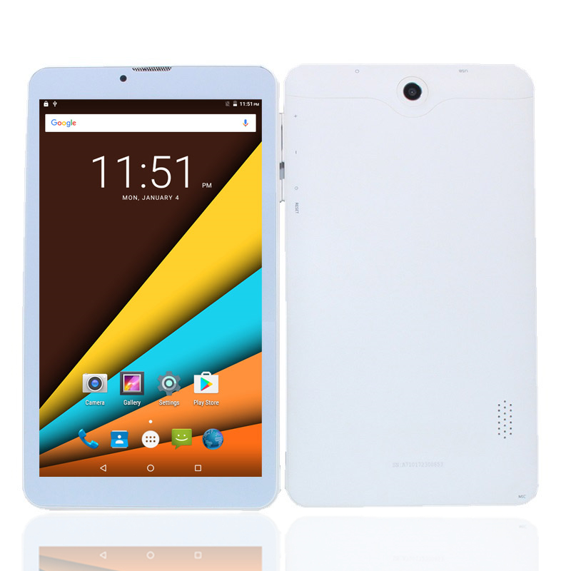 A710 7 Inch DUAL SIM Card 3G Phone Call  Tablets Android 5.1  600x1240 IPS WIFI 1+ 8GB Quad Core MTK8321 White