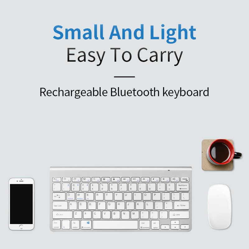 SANLEPUS プロフェッショナル超スリムワイヤレスキーボード Bluetooth 3.0 キーボード Teclado ipad 用のアップルシリーズ iOS システム