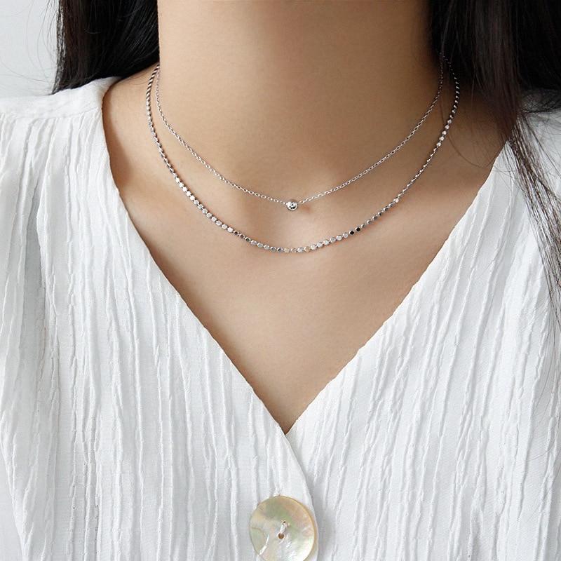 UK/_ Women Men Silver Plated Flat Snake Chain Choker Necklace Adorable