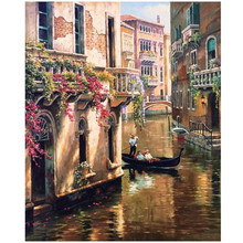 WEEN Water City Venice-DIY Painting By Numbers, Acrylic Paint, Canvas For Wall Decoration Picture, Paint Numbers