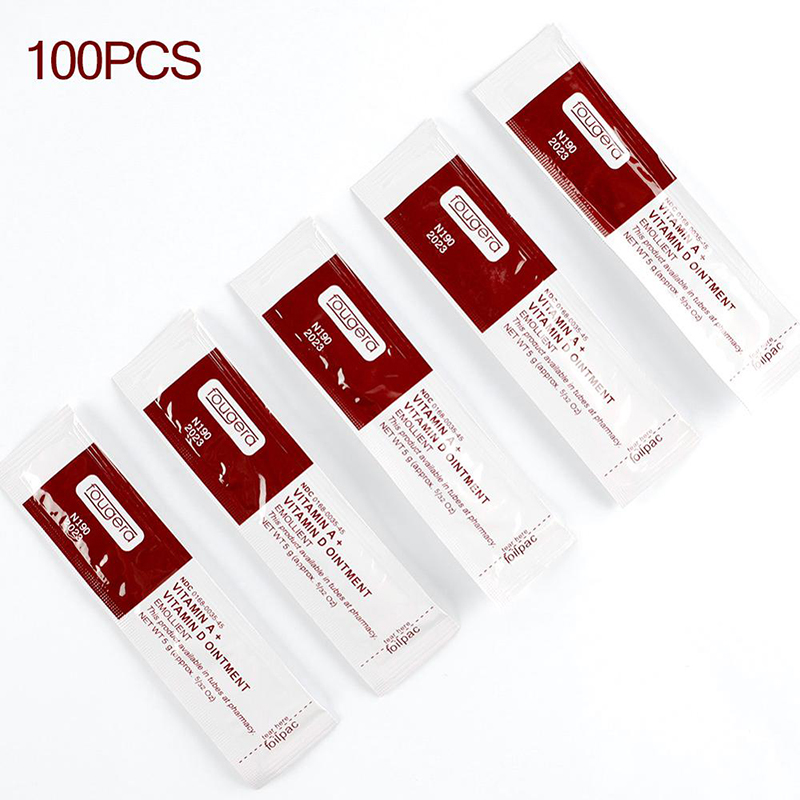 100Pcs/lot Tattoo Aftercare Cream Care Lotion Anti Scar Vitamin Ointment For Tattoo Body Art Permanent Makeup Tattoo Supplies image
