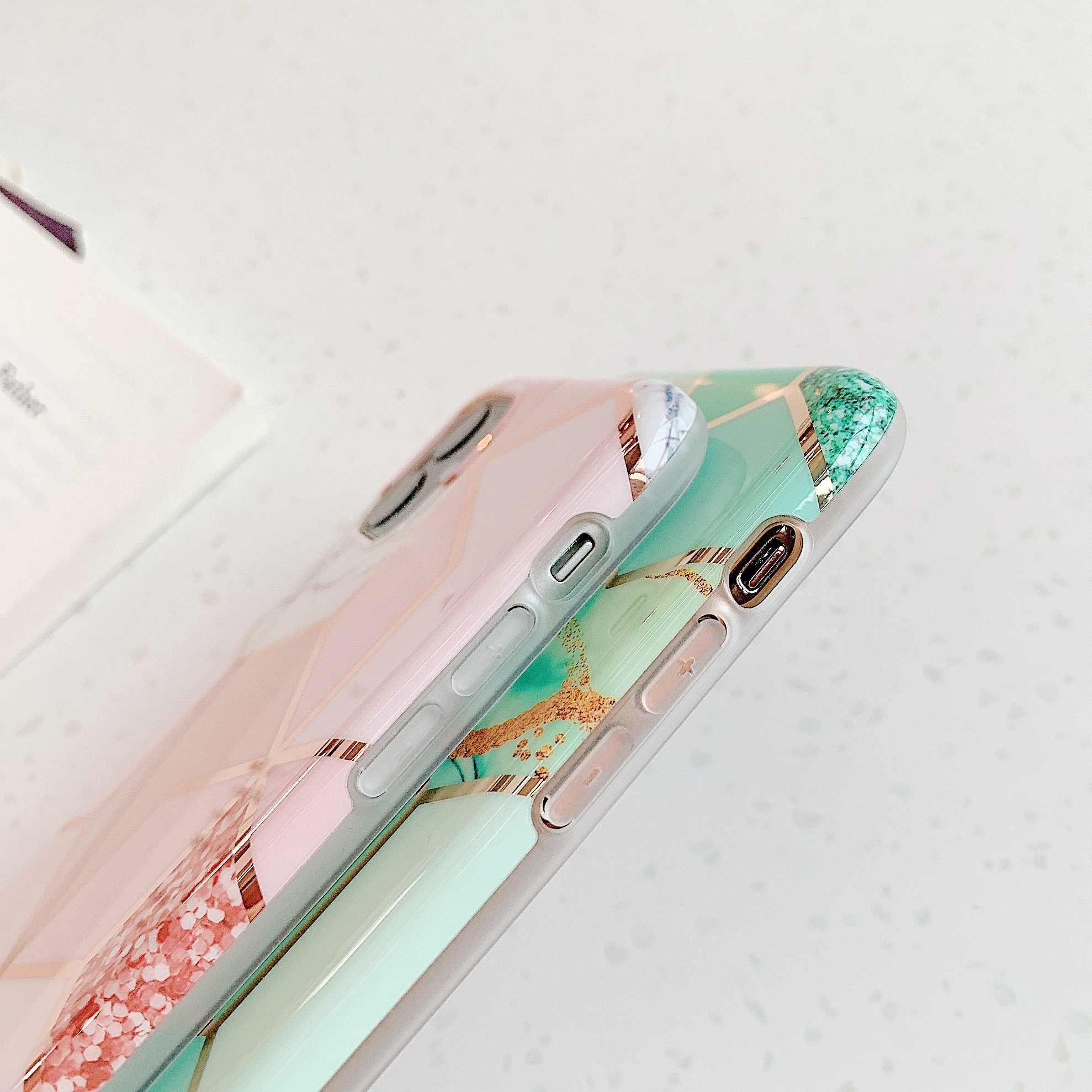 Funda de teléfono de mármol para iphone 11 Pro Max XS XR X 6 S 6 S 7 8 Plus, funda trasera de silicona suave y suave, carcasa de Arte de silicona