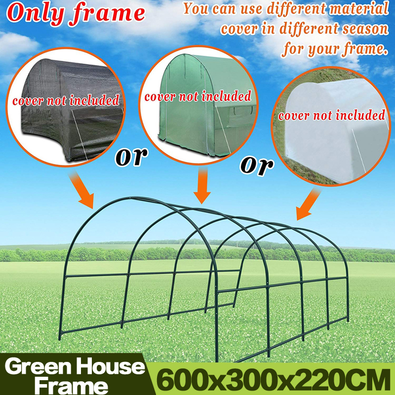 AULAYSED 600x300x220CM Garden Multi-use Support Arch Frame for Climbing Plants Flowers Vegetables Greenhouse Frame