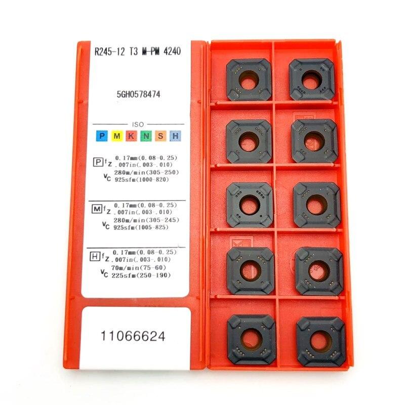 R245-12T3M PM 4240 1025 1030 Cermet grade outils de tournage CNC outils de coupe de tour carbure inserts métal R245 plaquettes de tournage