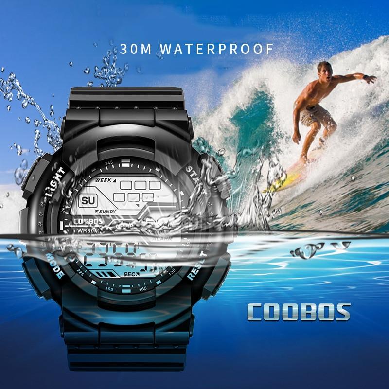 Trend Men's Sports Digital Watch Military Waterproof Mens Watches  LED Luminous WristWatch Male Casual Rubber Clock reloj hombre 5