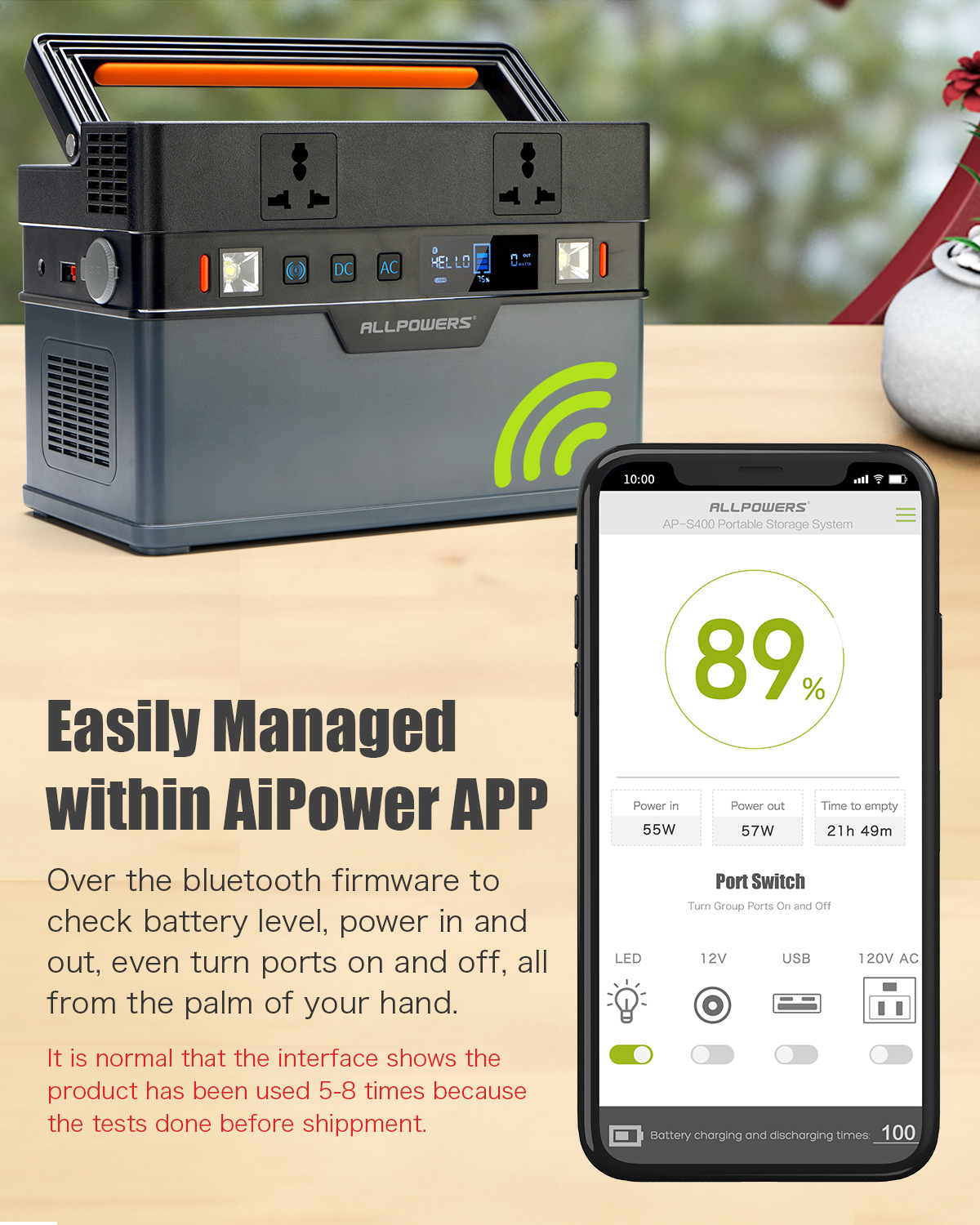 ALLPOWERS 500W Portable Power Station 666Wh Generator Wireless Charger For Camping Outdoor Use Supply 110V 220V