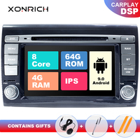 IPS DSP 2 Din Android 9.0 Car Multimedia player For Fiat/Bravo 2007 2008 2009 2010 2011 2012 Car Radio GPS Navigation DVD TV 4GB
