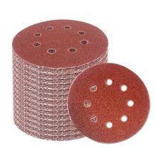 Promotion! 60PCS 5 Inch Sanding Discs Sandpaper Assorted 60 80 120 180 240 320 Grits For Power Ran Track Sanders