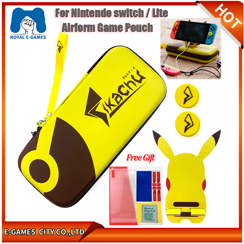 For Nintend Switch/Lite Accessories Storage Bag Protective Shell Cover Case For Nintendo Switch Lite Mini 16 Games+Tempered Glas(China)
