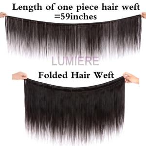Image 4 - Straight Bundles With Closure Brazilian Hair Weave Bundles With Closure Human Hair Bundles With Closure Hair Extension remy