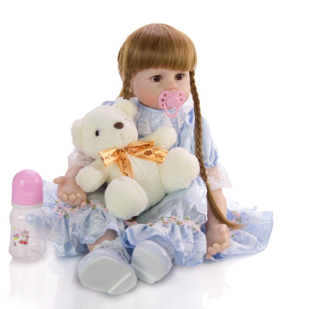 fashion kids toy doll baby long hair princess Lifelike soft Cloth Children Cute bebe girl reborn toy Gift Large size about 60cm