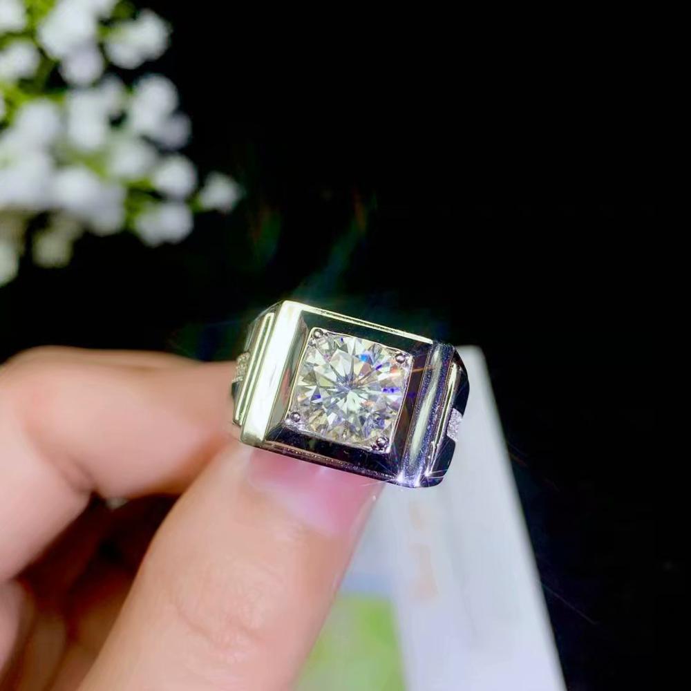 Moissanite Clara мужское кольцо, атмосферное бриллиантовое кольцо, подарок на день рождения, роскошные ювелирные изделия, 925 серебро. Никогда не мен
