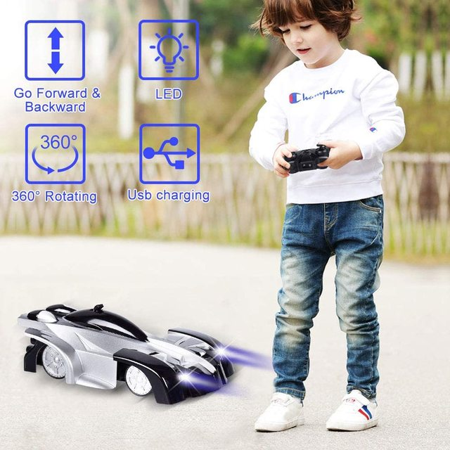 Wall Climbing RC Cars Remote Control RC Racing Car Anti Gravity Ceiling Rotating With LED Lights