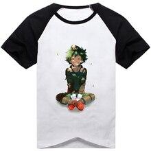 Аниме «Мой герой», футболка для косплея, Midoriya Izuku Bakugo Katsuki deku, мужская и женская Повседневная футболка с коротким рукавом и принтом