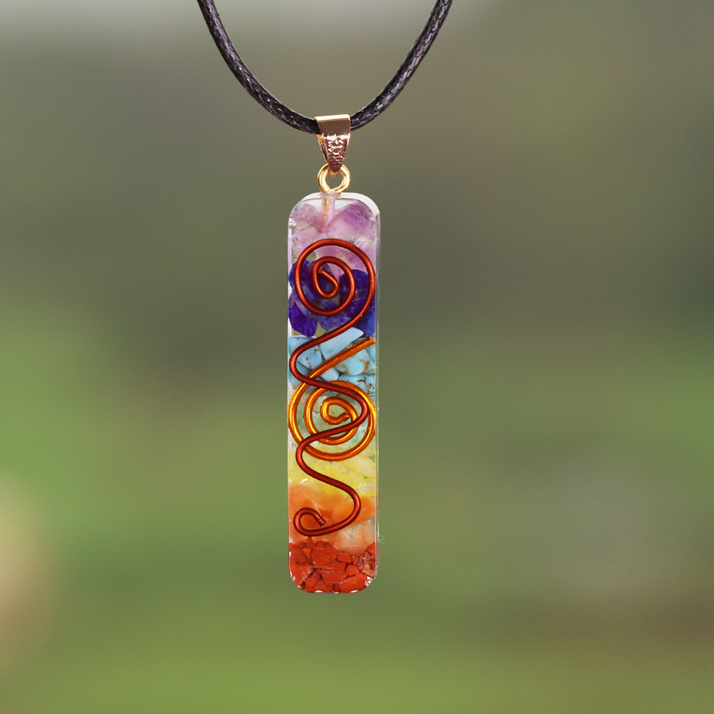 7 энергия чакры кулон Orgonite ожерелье Радуга кристалл кулон Йога Медитация ожерелье Смола ювелирные изделия для женщин мужчин|Ожерелья с подвеской|   | АлиЭкспресс