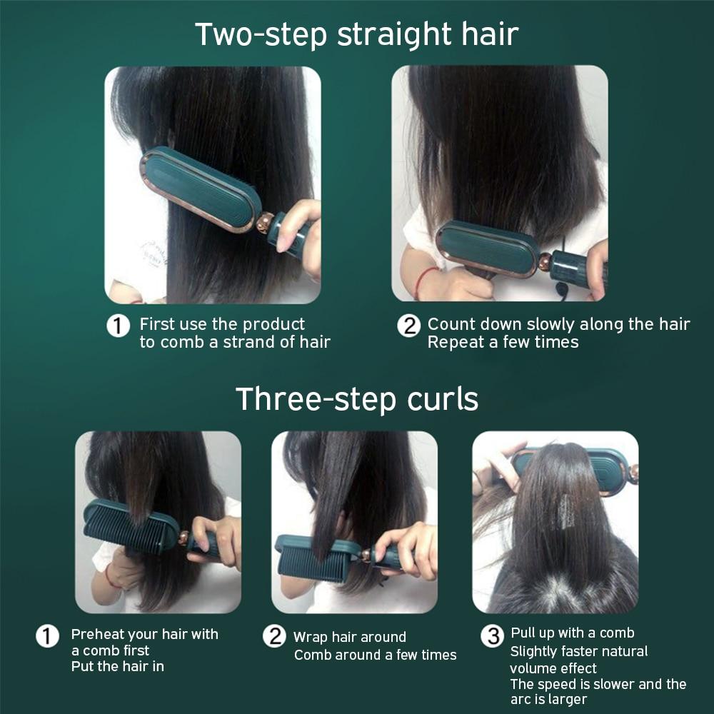 Alisador de cabelo pente escova de cabelo