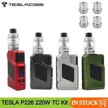 Оригинальный набор для вейпа Teslacigs TESLA P226, 220 Вт, TC, с баком Tind 4,5 мл, питание от двух электронных сигарет 18650, комплект модов VS Drag 2