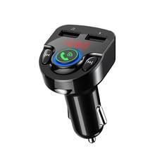 car bluetooth fm transmitter car kit Hands Free mp3 player wireless radio car charger USB SD music