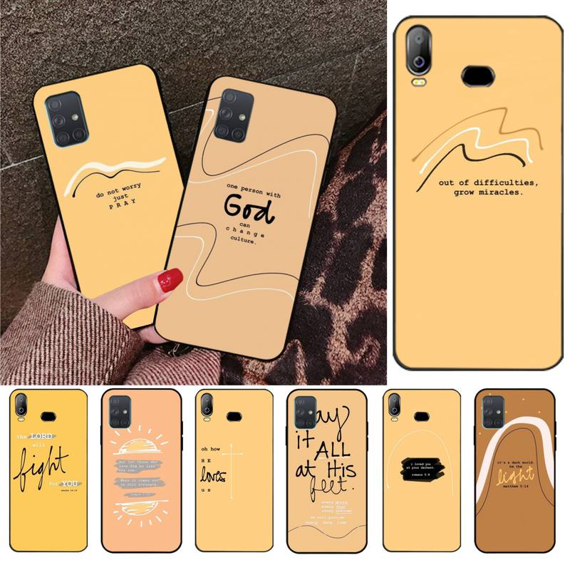 Simple Yellow Bible Verse Coque Shell Phone Case For Samsung Galaxy A01 A11 A31 A81 A10 A20 A30 A40 A50 A70 A80 A71 A91 A51