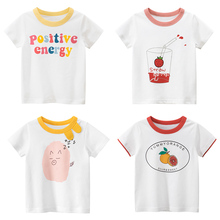 Toddler Child Girls Summer Short Sleeve T-Shirt Kids Cotton White T Shirts For Baby Boys TShirt Girl Tops Tee 2 8 Years New 2020 цена 2017