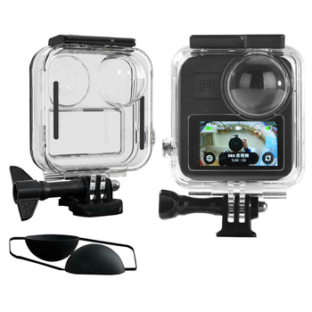 Waterproof Housing Case for Gopro Max Action Camera, Underwater Diving Protective Shell 20M with Bracket Accessories - discount item  35% OFF Camera & Photo