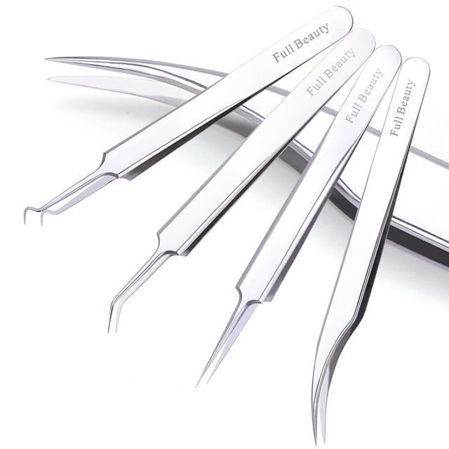 1 stücke Edelstahl Akne Pinzette Für Wimpern Verlängerung Gebogene Gerade Reinigung Hautpflege Make Up Reparatur Nagel Werkzeug JIFBNC01 04