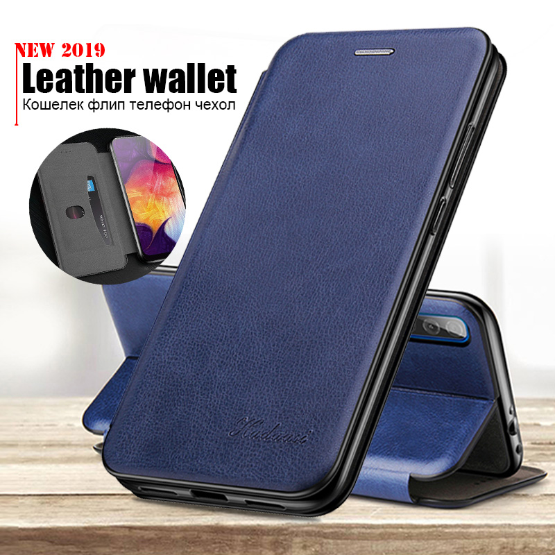 Luxury Leather Case For Samsung A10 Case Flip Wallet Phone Cover For Samsung galaxy A20 A20e A30 A40 <font><b>A50</b></font> A60 A70 2019 Coque <font><b>Capa</b></font> image