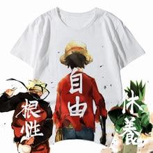 Anime Een Stuk T-shirt Luffy Glimlach Gezicht Naruto Hunter X Hunter Mijn Hero Academia 3D Gedrukt Custom-Made cosplay Harajuku Top Tee