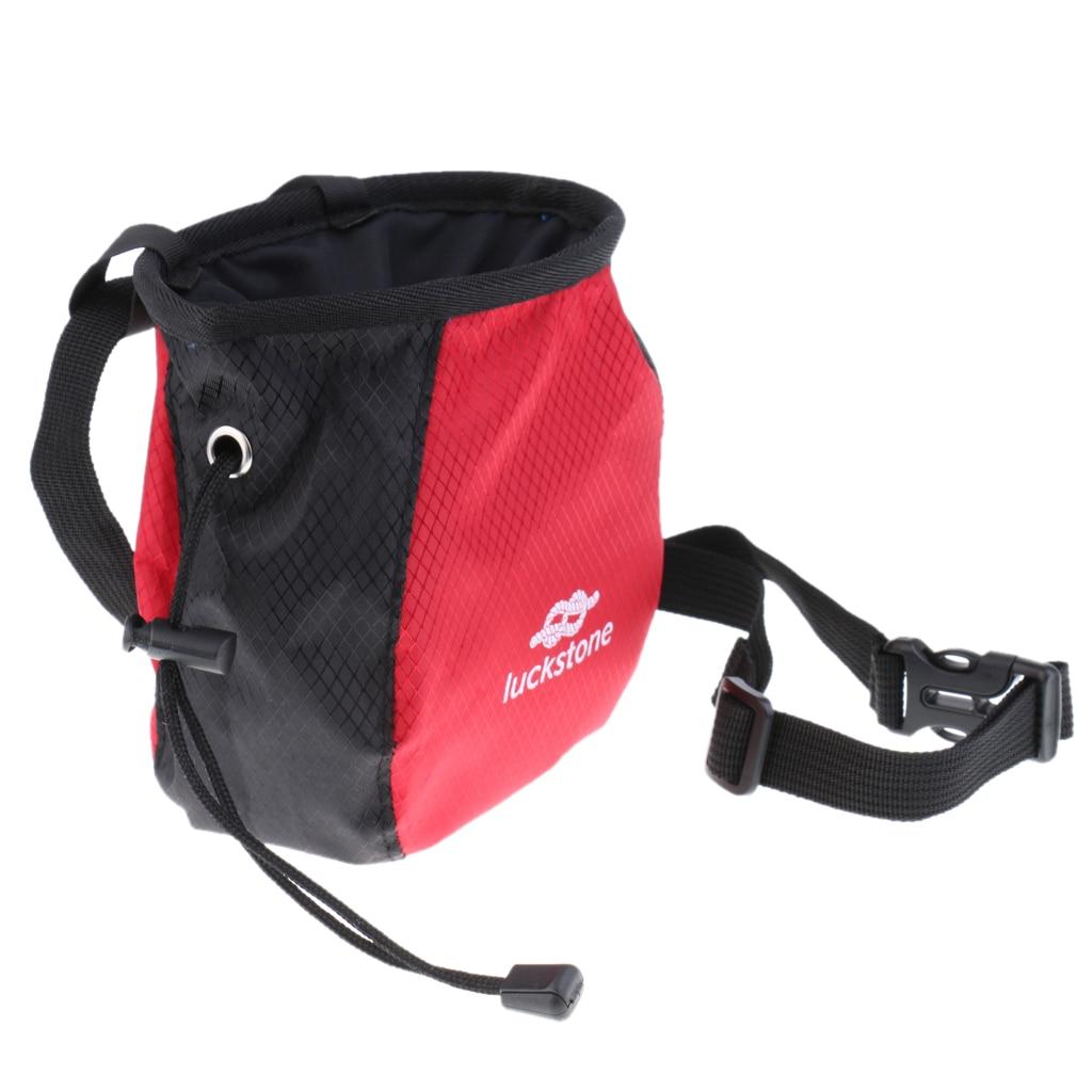 2pcs Chalk Bag with Quick Release Waist Belt for Climbing Weight Lifting