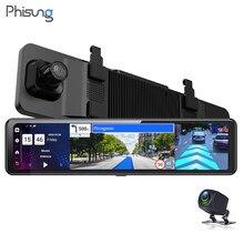 Hisung más 4 + 32G Android 8,1 espejo retrovisor Cámara 3 dividir 12