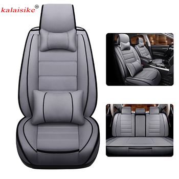Kalaisike Linen Universal Car Seat Covers for Porsche all models Cayman 911 Cayenne Macan Panamera car accessories car styling
