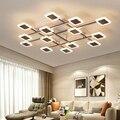 Креативные скандинавские светодиодные потолочные светильники  коричневые алюминиевые акриловые современные потолочные лампы для гостино...