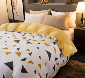 Image 4 - 1 Pc Winter Yellow Pineapple Duvet Cover/ Quilt Cover/Comforter Cover A Side Cotton B Side Fleece Fabric Bedding Quilt