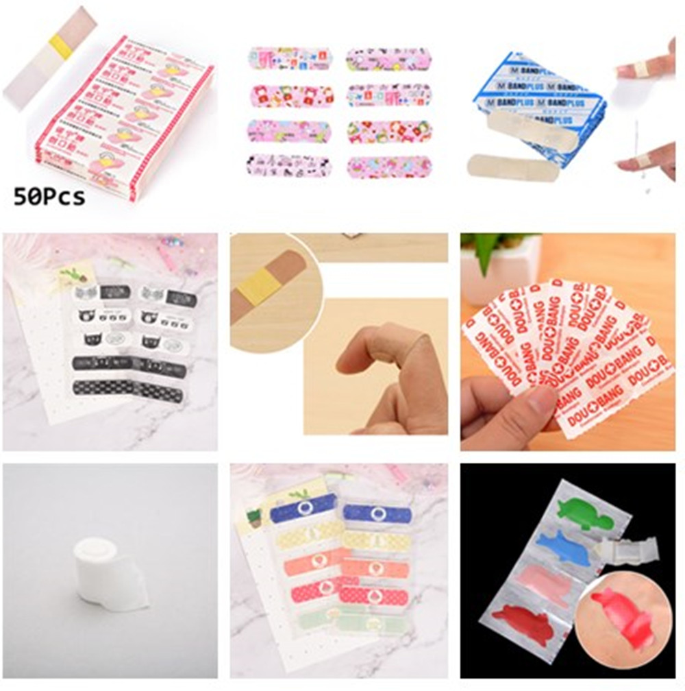 1/10/20/30/50pcs Waterproof Adhesive Bandage First Aid Breathable First Aid Kit Medical Hemostatic Stickers Kids Children Adult