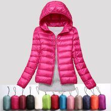 2019 winter ultra light snow waterproof warm jacket for women sexy slim hooded s