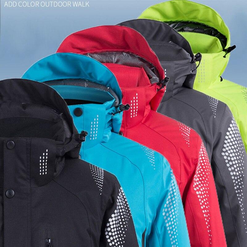 -30 Women And Men Snow Suit Wear Snowboard Clothing Winter Outdoor Waterproof Windproof Costumes Skiing Jacket 5 Pure Colors