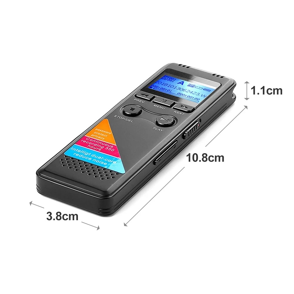Professional Digital Voice Recorders High Definition Lossless Sound Quality Phone Recording Circulating A-B Repeating Noise Redu