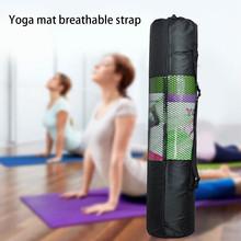Czarny plecak do jogi torba na matę do jogi wodoodporny plecak torba do jogi Nylon Pilates Carrier Mesh regulowany pasek Sport narzędzie wygoda tanie tanio Poliester yoga mat 6 lat Gimnastyka Unisex