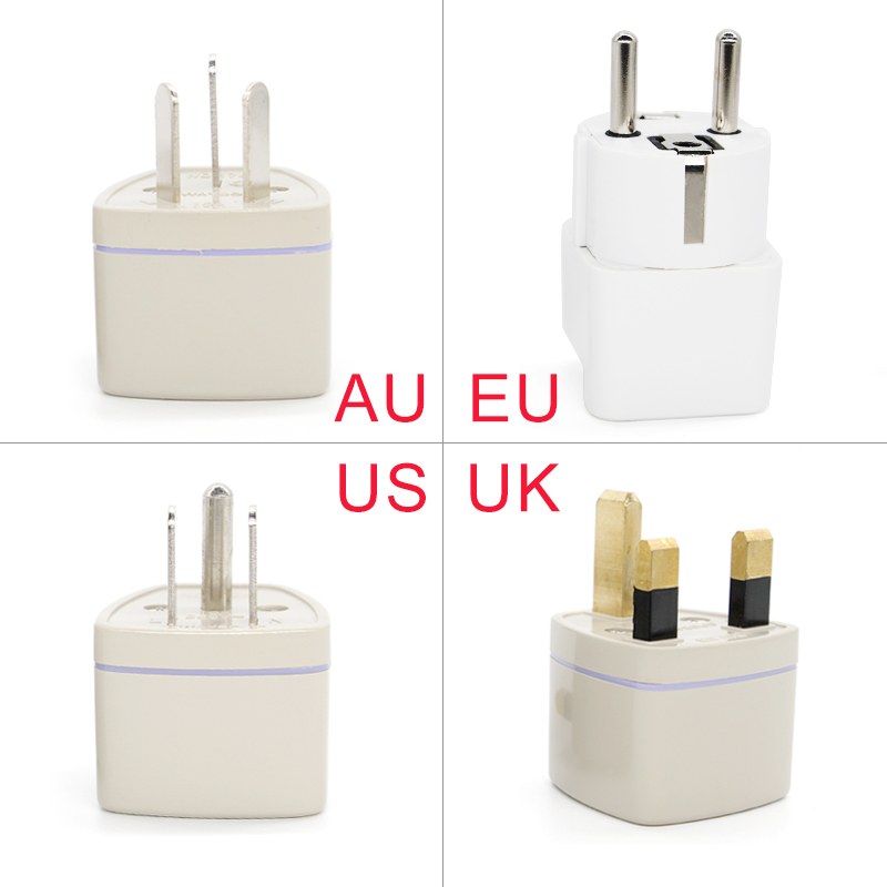 1PC Universal Changeover plug UK US AU to EU AC Power Socket Plug Multi-function Travel Charger Adapter Converter Outlet Adaptor