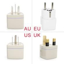 Prise de courant ca universelle, adaptateur de chargeur de voyage multifonction, convertisseur de sortie, UK US AU à EU, 1 pièce