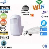 720P 960P 1080P 3MP 5MP Onvif HD Pir نمط RTSP Wifi IP الأمن اللاسلكي 940nm للرؤية الليلية الكاميرا السرية Sd فتحة للبطاقات والصوت-في كاميرات المراقبة من الأمن والحماية على