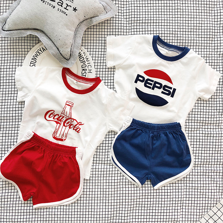 Boys Girls Clothing Sets 2020 Summer Baby Girl Short Sleeve Shirt Top+Shorts Twins Brother Sister Family Matching Clothes