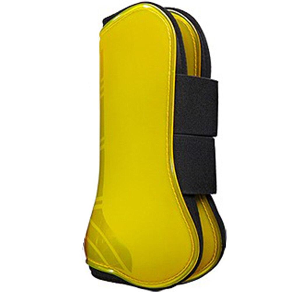 4pcs PU Shell Horse Tendon Boot Shock Absorbing Jumping Equestrian Equipment Protective Gear For Horsemanship Outdoor Leg Guard