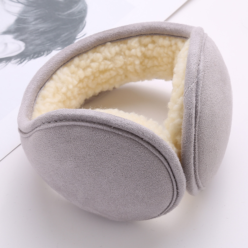 Simple Winter Earmuffs Villi Wool Ear Warmer Ear Muff Folding Cashmere Faux Muff Ear Cover For Men And Women Fur Earmuffs Unisex