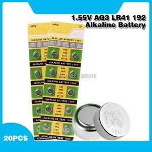 20x LR41 AG3 392A SR41SW 384 LR736 V3GA 192 1.55V Button Coin Cell Battery Batteria For Watch Clocks Laser Pointer Torch