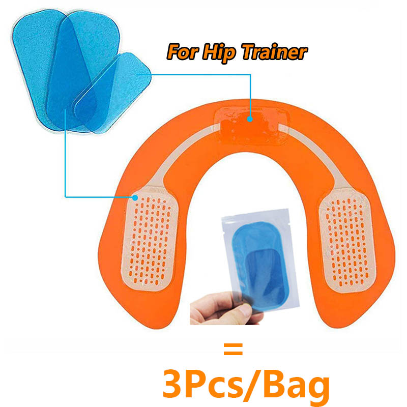 3Pcs/Pack Hydrogel Sticker For Hip Trainer Buttocks Muscle Stimulator Training Replacement Gel Sheet Pads AbS EMS Hip Muscle Gel