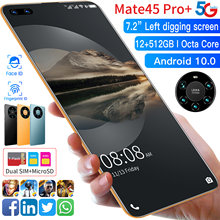 Global Version Mate45 Pro+ Smartphone 7.2 Inch Full Screen Octa Core 24MP + 48MP 8GB 256GB 4G LTE 5G Network Mobile Phone