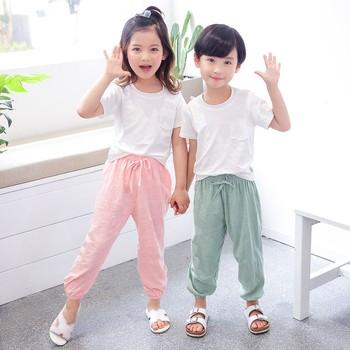 Spodnie dla chłopca Kiz Bebek Pantolon dzieci lato cienkie spodnie miękkie bawełniane długie spodnie odzież dla dzieci maluch jednolite spodnie tanie i dobre opinie CN (pochodzenie) Dziecko dla obu płci 7-12m 13-24m 25-36m Stałe baby LOOSE Pełna długość COTTON moda Dobrze pasuje do rozmiaru wybierz swój normalny rozmiar