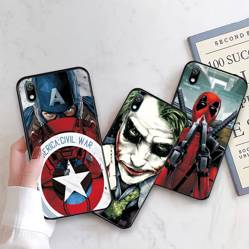 Shell case For Huawei Y5 Y6 Y7 Y9 2019 Y5 Lite Prime 2018 Honor 8S 8A with Clown and Spiderman graphics 2
