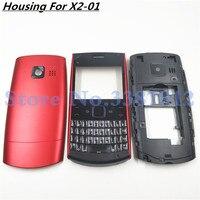 Nokia x2-01 x201 용 기존 배터리 백 커버 하우징 전체 하우징 커버 도어 프레임 + 배터리 백 커버 + 영어 키패드